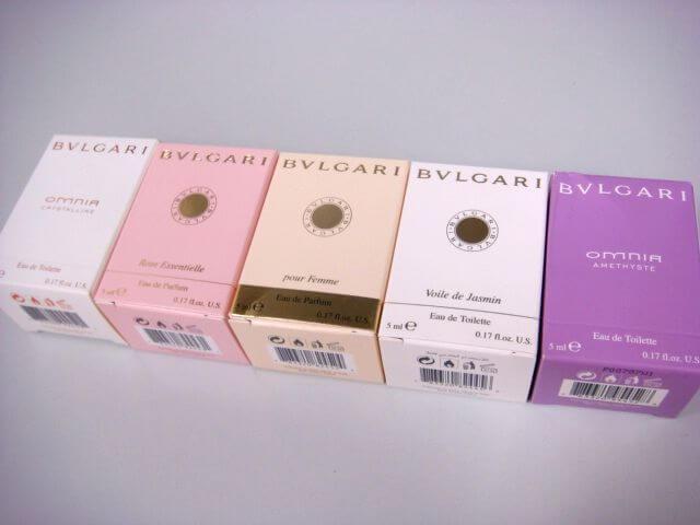 愛知県豊橋市のお客様よりをお買取りいたしましたブルガリ のミニ香水(EDT&EDP)