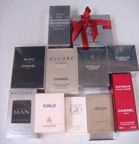 シャネル、ゲラン、ブルガリ、ランバン、ジョルジオアルマーニ、サルヴァトーレフェラガモの香水