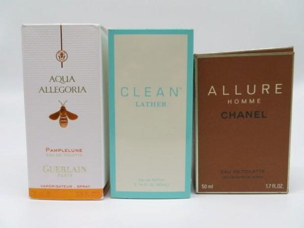 大阪府松原市のお客様よりお買取りいたしましたゲラン、クリーン、シャネルの香水