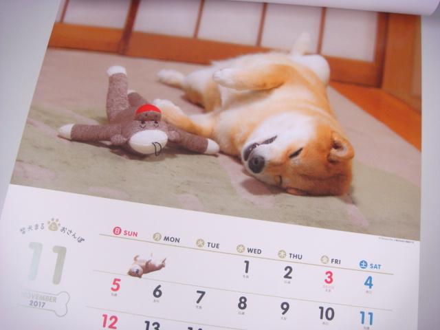 柴犬まるの11月のカレンダー