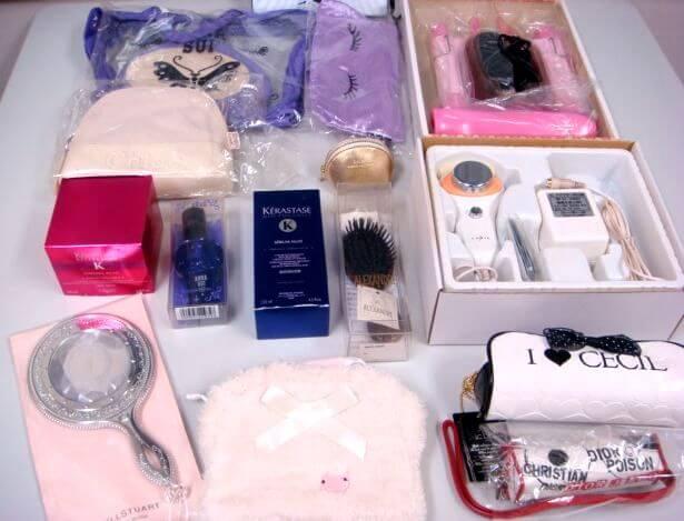 兵庫県篠山市のお客様よりお買取りいたしましたヤーマンの美顔器、脱毛器、k-TWOのヘアアイロン、ジャパンギャルズ 超音波美容器 Jソニック フェイスケア、ジルスチュアートのミラー、アナスイのポーチ、エルメスの練り香水等