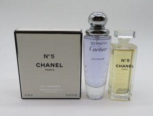 大阪市中央区のお客様よりお買取りいたしましたシャネル、カルティエ の香水