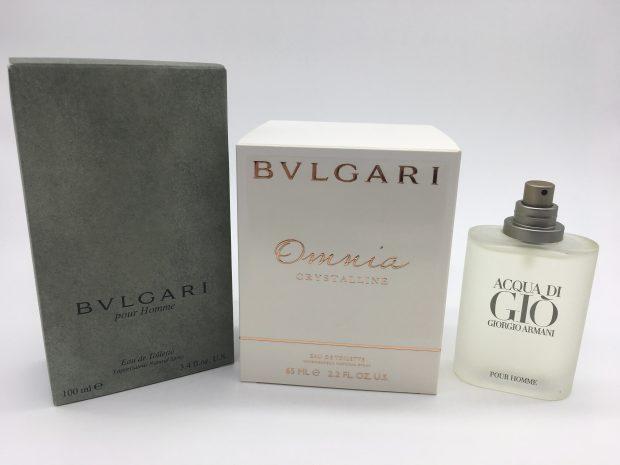 ブルガリとジョルジオアルマーニの香水